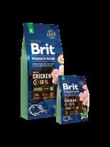 Brit Premium by Nature Junior XL - Complete Chicken Formula - суха, гранулирана храна за кученца от гигантските породи (45-90 кг) от 4 до 30 месеца с пилешко месо - 3 кг.
