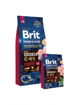 Brit Premium by Nature Senior L+XL - Complete Chicken Formula for Senior Dogs (+7 years) - суха, гранулирана храна за кучета от големи породи (25-45 кг) над 7 години с пилешко месо - 3 кг.