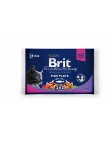 Brit Premium Cat Pauch Fish Plate - Високо качествен пауч за котки - Рибноплато: 2хсьомга и пъстърва, и 2хриба треска - 400 гр.