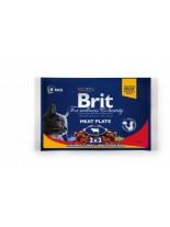 Brit Premium Cat Pauch Meat Plate - Високо качествен пауч за котки - Рибноплато: 2хпиле и пуйка, и 2хговеждо и грах - 400 гр.