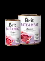 Brit Pate & Meat - Lamb  - високо качествена консерва за кучета над 1 година с агнешко месо, хапки в пастет - 0.800 кг.
