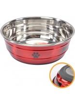 Camon - New selecta - Купа за домашни любимци от високо качествена стомана, покрита с нехлъзгаща се гума - 13 см. 0.500 л.- синя
