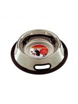 Camon -  Купа за домашни любимци от високо качествена стомана, покрита с нехлъзгаща се гума - 0.700 л. - инокс