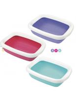 Camon - BETA MAXI - Котешка тоалетна с борд (червена, синя, лилава) - 49х39х13 см.