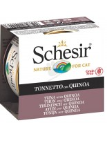 Schesir Agras Delic Schesir Nature Tuna with Quinoa - Високо качествена и неустоима храна за котки с риба тон и киноа - 85 гр.
