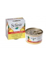 Schesir Agras Delic Schesir Nature Chicken and Pineapple - Високо качествена и неустоима храна за котки - с пилешки филенца и ананас - 75 гр.