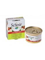 Schesir Agras Delic Schesir Nature Chicken with Apple - Високо качествена и неустоима храна за котки - с пилешки филенца и ябълки - 75 гр.