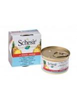Schesir Agras Delic Schesir Nature Tuna with Pineaple - Високо качествена и неустоима храна за котки - с риба тон и ананас - 75 гр.