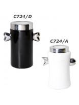 CAMON -Черно-бяла керамична купа съхранение на лакомства  Черна - 22 см
