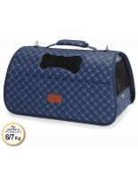 Camon - Rombo BLUE - Ватирана транспортна чанта за домашни любимци - 42x25x25 см. - синя