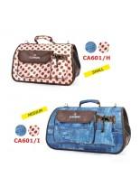 Camon - Текстилна чанта Denim за домашни любимци - M - 50x25x26 см. - синя, розова