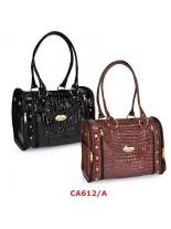 Camon - Текстилна чанта CROCO за домашни любимци -  38х25х28 см. -кафява, черна