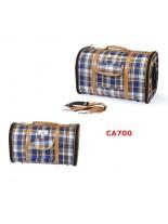 Camon - Текстилна чанта Scotland за домашни любимци - 40x22x23 см. - синя-каре