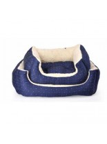 Camon - Легло Royal Blue за домашни любимци с плюш - 50х55 см.