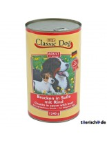 Classic Dog Can Beef - Консерва на хапки в сос за куче с говеждо - 1240 гр.