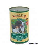 Classic Dog Can Wild - Консерва на хапки в сос за куче с дивеч - 1240 гр.