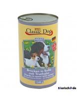 Classic Dog Can Turkey - Консерва на хапки в сос за куче с пуйка - 1240 гр.