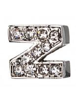 "Camon - Декоративна буква  ""Z"" - с брилянти за поводи и нашийници - 2 см. - бяло, розово, синьо"