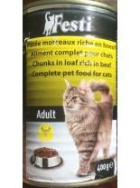 FESTI adult cat beef - консерва за котки nad 1 година с риба - 400 гр.