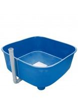 FIAP - profifish Circular Tank 2.100 - квадратна, пластмасова, циркулационна вана - басейн за отглеждане на малки рибки - 2100 л.