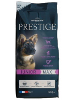 Flatazor PRESTIGE Junior Maxi - Flatazor Prestige Junior Maxi - пълноценна храна за кучета едри и гигантски породи от 2 до 18 месеца  с пилешко, патешко и свинско месо - 15 кг.