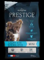 Flatazor Prestige ADULT MINI LIGHT &/OR STERILIZED - Пълноценна храна за кучета от дребни породи над 1 година със склонност към напълняване и/или кастрирани кучета - 8 кг.