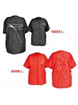 """Camon Grooming apparel - високакачествена професионална мантия за груминг, Размер """"L"""" - черна"""