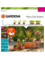 Gardena Start Set Flower pots M - стартов комплект за напояване на 7 + 3 бр. саксии