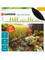 Gardena Start Set for Rows of Plants S - стартов комплект за капково напояване за редица от растения - 15 м.
