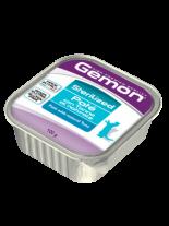 Monge Gemon Paté with Natural Tuna – Sterilized - Високо качествен пастет за кастрирани котки над 12 месеца с риба тон - 0.100 кг.
