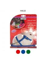 Camon - Комплект нагръдник и повод за Заек - син, червен, зелен - 8х1200 мм.