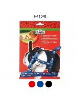 Camon - Комплект нагръдник и повод за Заек - син, червен, черен - 10х1200 мм.