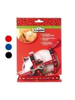 Camon - Комплект нагръдник и повод за морско свинче - син, червен, черен - 10х1200 мм.