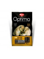 Visan Optima Cat Kitten Chicken & Rise - супер премиум храна с чисто пилешко месо за подрастващи котки от 1 месец до 1 година - 2.0 кг.