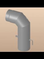 Димоотводно коляно 90° с ревизионен отвор и клапа DTEPD 150 / 90°