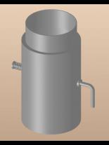 Димоотводен Преходник с клапа DTRD 150/130