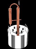 """Казан за ракия """"Интелигент"""" с медна кула - за домашно производство на ракия  - резервоар - 12 л."""
