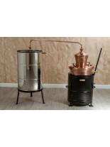 """Казан за ракия """"Рила"""" с печка на дърва (обръщащ) - за домашно производство на ракия  - резервоар - 40 л."""