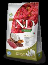 N&D - QUINOA SKIN&COAT DUCK, COCONUT- Пълноценна храна за кучета в зряла възрастпри чувствителен стомах, спатешко месо, киноа, кокос и куркума - 0.8 кг.