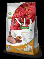 N&D - QUINOA SKIN&COAT QUAIL, COCONUT - пълноценна храна с киноа за кучета в зряла възраст над 1г. за всички породи при чувствителен стомах, здрава кожа и козина с пъдпъдък, кокос и куркума - 7 кг.