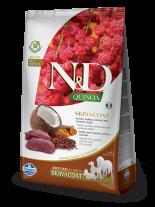 N&D - QUINOA SKIN&COAT VENISON, COCONUT – пълноценна храна с киноа за кучета в зряла възраст над 1г. за всички породи при чувствителен стомах, здрава кожа и козина с еленово месо, кокос и куркума - 7 кг.