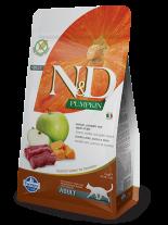 N&D CAT - PUMPKIN VENISON&APPLE ADULT – пълноценна храна с тиква за котки над 1 година, с еленово месо и ябълки - 1.5 кг.