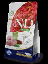 N&D - QUINOA DIGESTION LAMB – пълноценна храна с киноа за котки над 1 г. с високо смилаема формула за здравето на стомаха с агнешко, копър и мента - 1.5 кг.