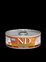 N&D Cat Vension & Pumpkin - високо качествена консерва за котки с еленово месо и тиква - 80 гр.