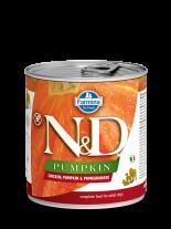 N&D Dog Chicken & Pupkin & Pomegrante - високо качествена консерва за израстнали кучета с пилешко месо, тиква и нар 285 гр.