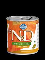 N&D Dog Quail & Pupkin - високо качествена консерва за израстнали кучета с месо от пъдпъдък и тиква 285 гр.