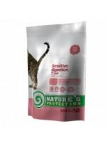 NATURE'S Protection - Sensitive digestion - Super Premium суха храна за капризни котки над 1 година - с пилешко месо - 0.400 кг.