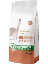 NATURE'S Protection - Neutered Light - Super Premium суха храна за кастрирани котки над 1 година за контрол на теглото - с пилешко месо - 7 кг.