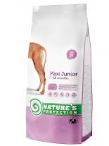 NATURE'S Protection - Maxi Junior - Super Premium суха храна за подрастващи кученца от средните породи (над 25 кг.) от 2 до 18 месечна възръст - с пилешко месо - 12 кг.