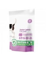 NATURE'S Protection - Junior Lamb - Super Premium суха храна за подрастващи кученца от всички породи от 2 до 18 месечна възръст - с агнешко месо - 0.5 кг.